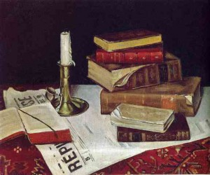 Still Life With Books and Candle, af Henri Matisse.