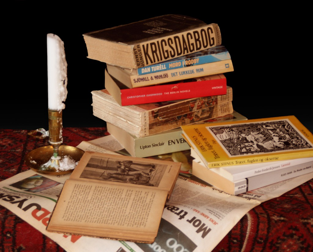 Still Life with books and candle. Foto: Pia Daugaard