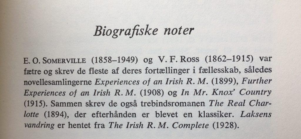 Den 'upræcise' biografi af Somerville & Ross i Irske stemmer